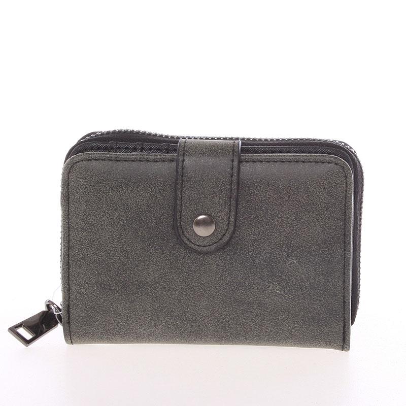 Dámská praktická tmavě šedá peněženka - Just Dreamz Erin