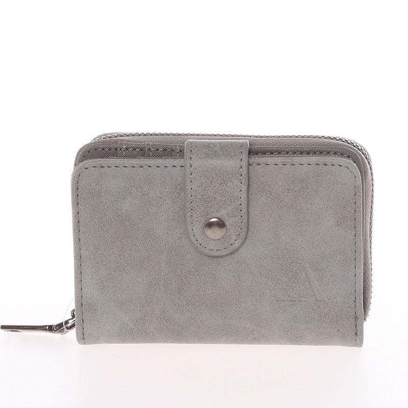 Dámska praktická šedá peněženka - Just Dreamz Erin