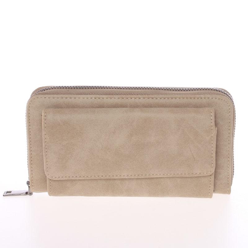 Moderní dámská taupe peněženka - Just Dreamz Ayla