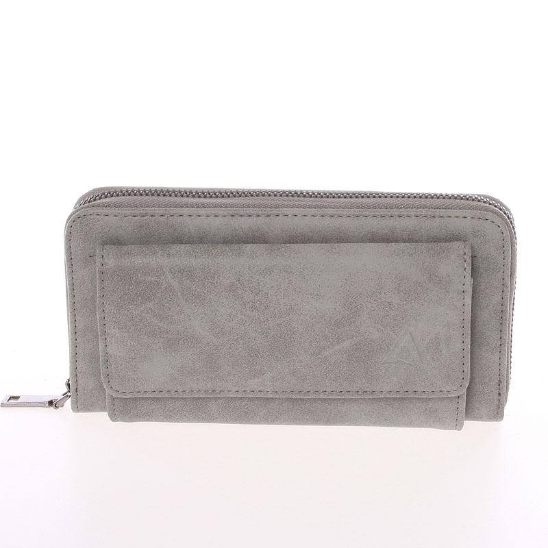 Moderní dámská šedá peněženka - Just Dreamz Ayla