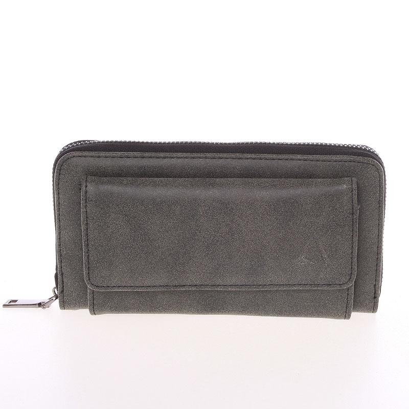 Moderní dámská tmavě šedá peněženka - Just Dreamz Ayla