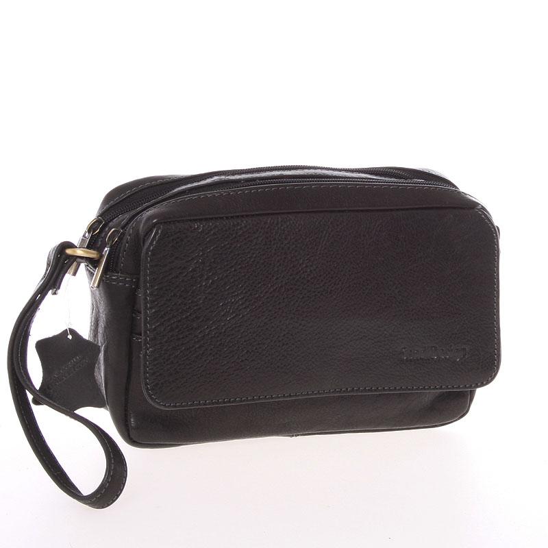 Pánské černé kožené etue - Sendi Design 52008