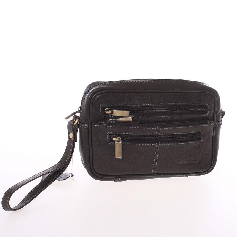 Černé pánské kožené etue - Sendi Design 52007