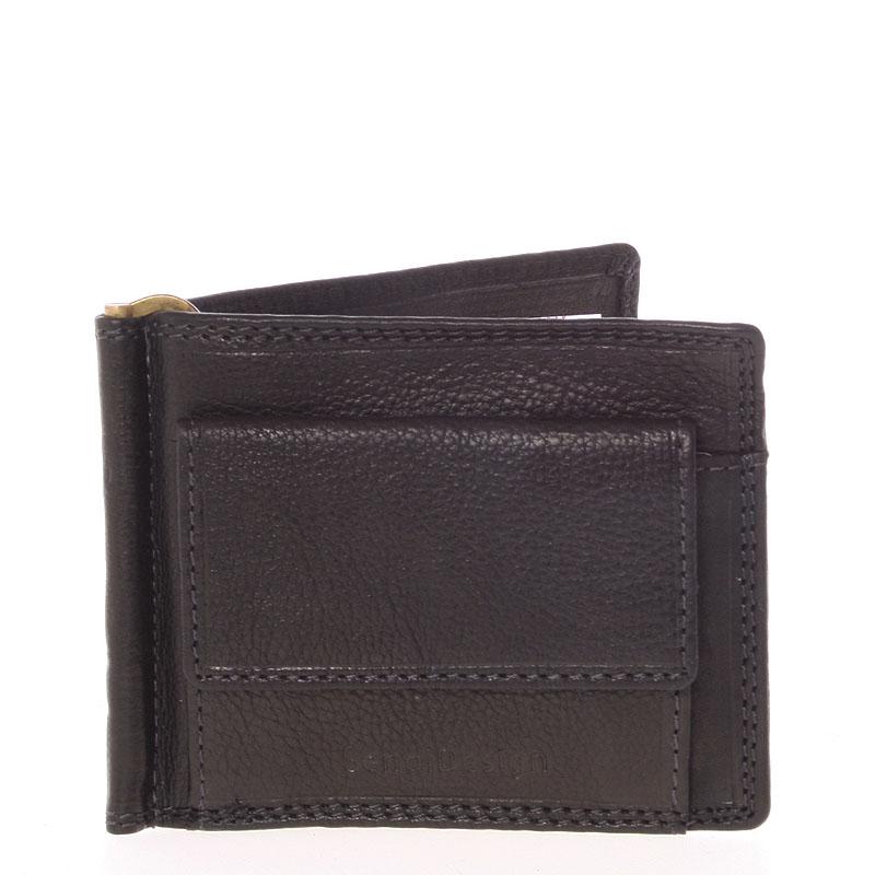 Pánská kožená dolarovka černá - SendiDesign Ctex