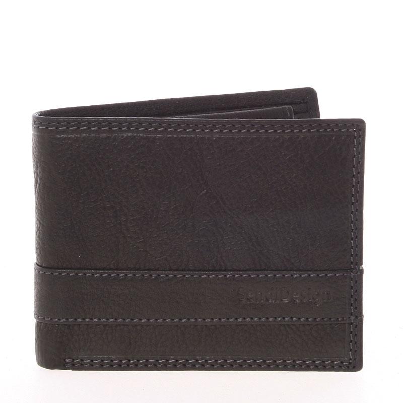 Lehká pánská kožená peněženka černá - SendiDesing Ctix