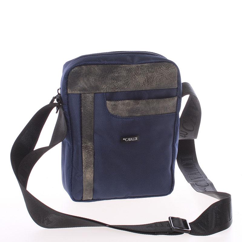 Originální modrá crossbody taška na doklady - Cavaldi Tittle
