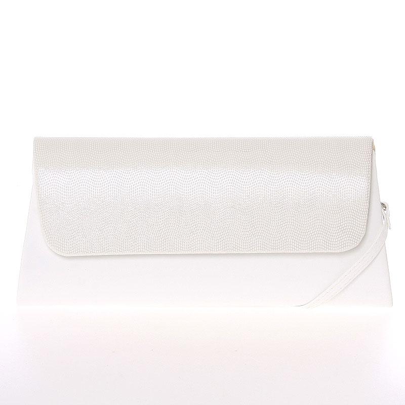 Luxusní velké dámské psaníčko bílé matné se vzorem - Delami Chicago