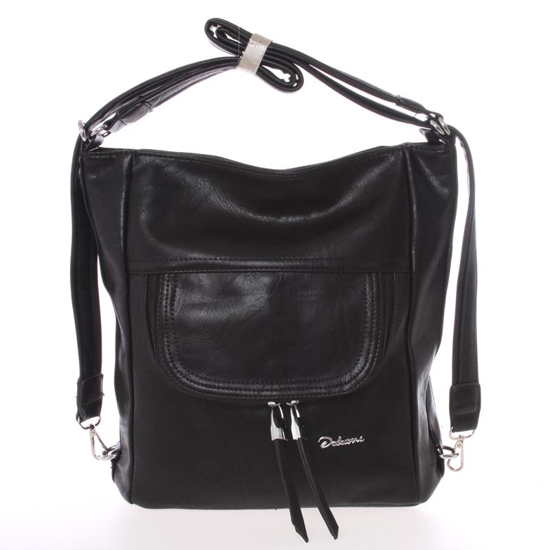 Dámská crossbody kabelka černá - Delami Laurene