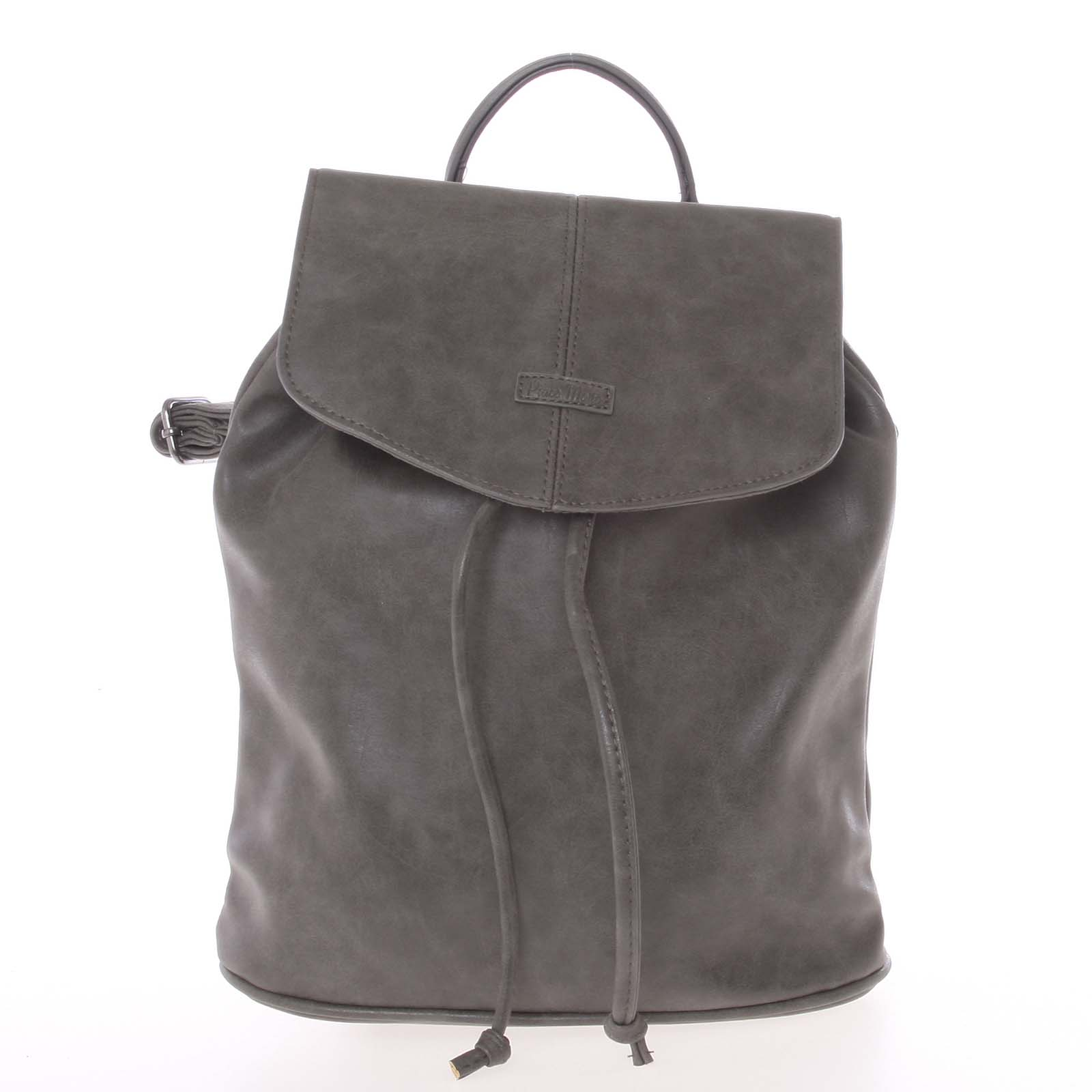 Kvalitní elegantní dámský šedý batůžek - Piace Molto Floriant