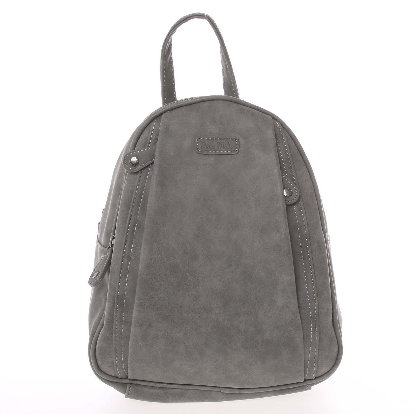 Dámský módní batůžek šedý - Piace Molto Cammi