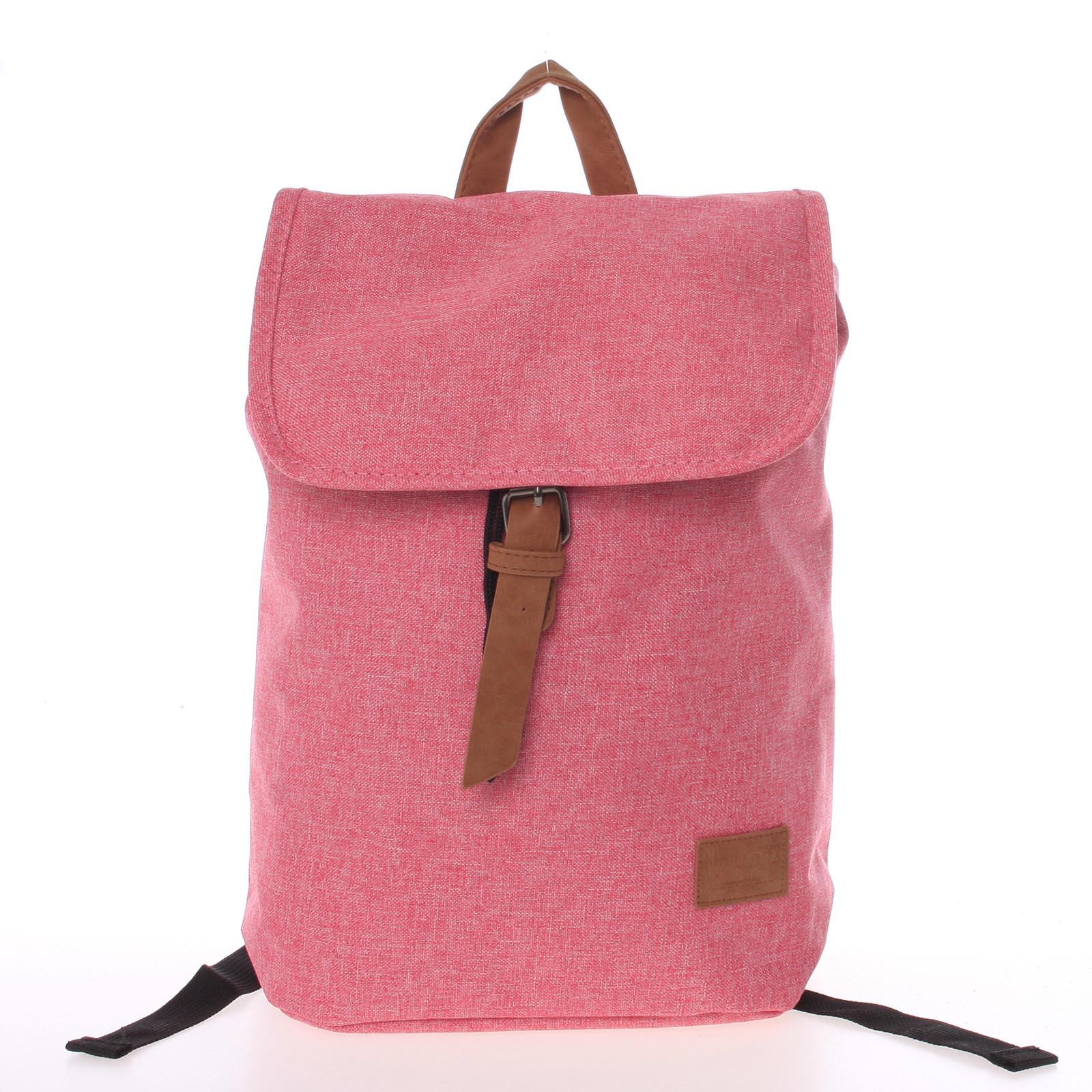 Elegantní látkový růžový batoh - New Rebels Morpheus