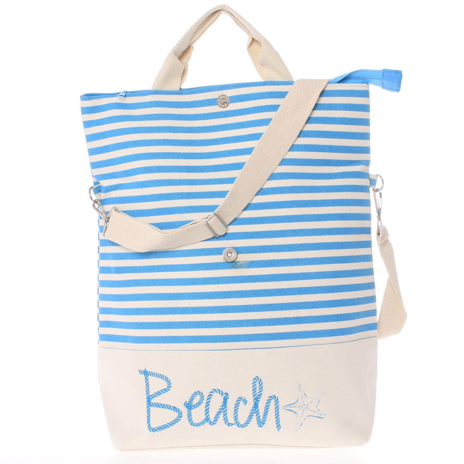Plážová taška Beach světle modrá - Delami Star