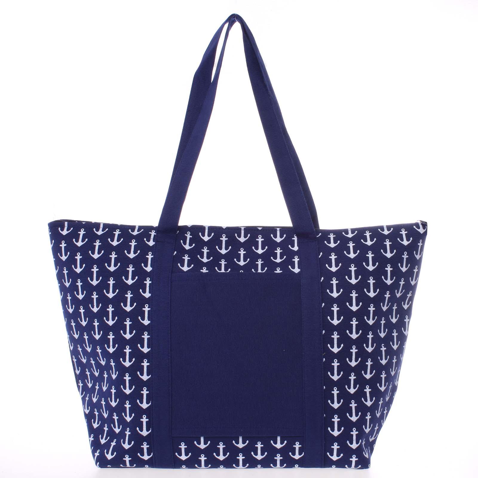 Luxusní modrá plážová taška - Delami Spirance