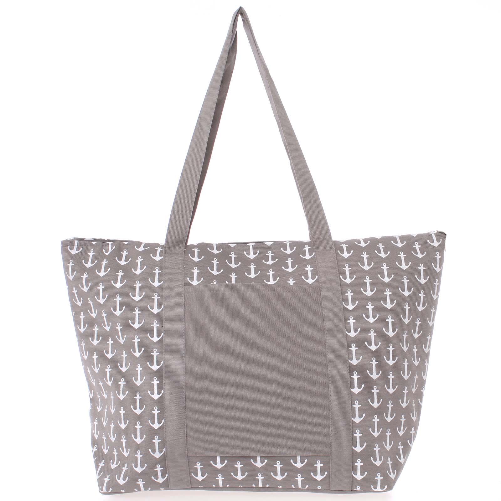Luxusní šedá plážová taška - Delami Spirance