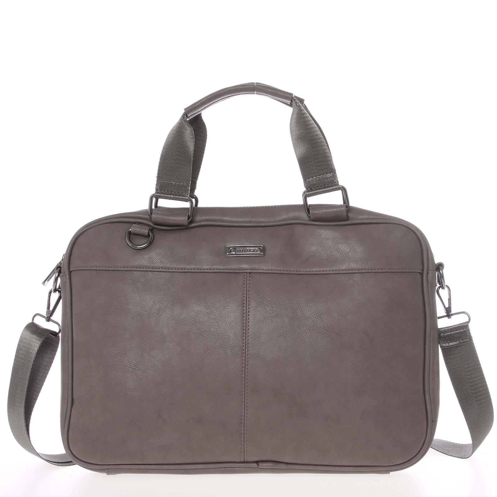 Měkká taška na spisy a notebook tmavá taupe - Bellugio Maris