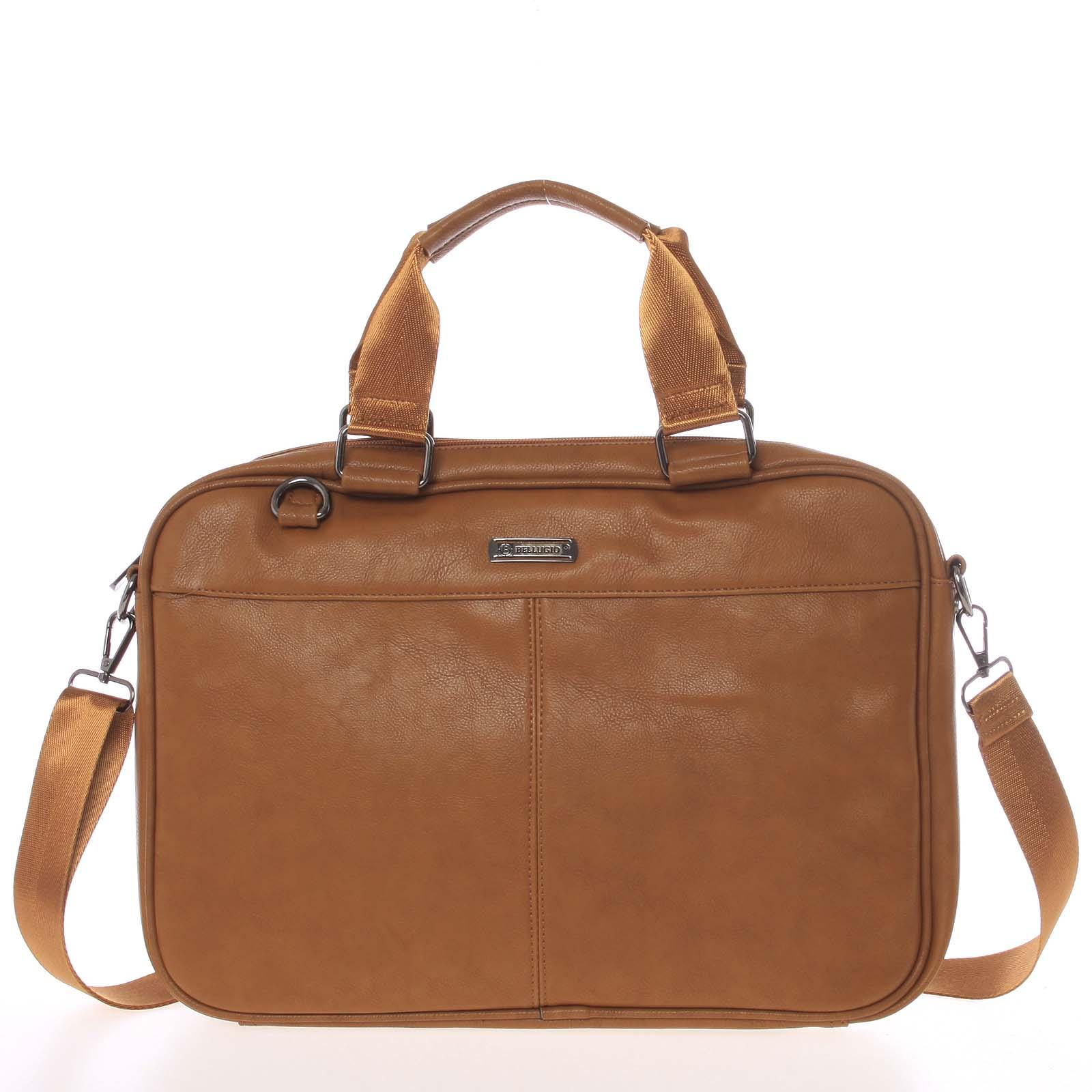 Měkká taška na spisy a notebook hnědá - Bellugio Maris