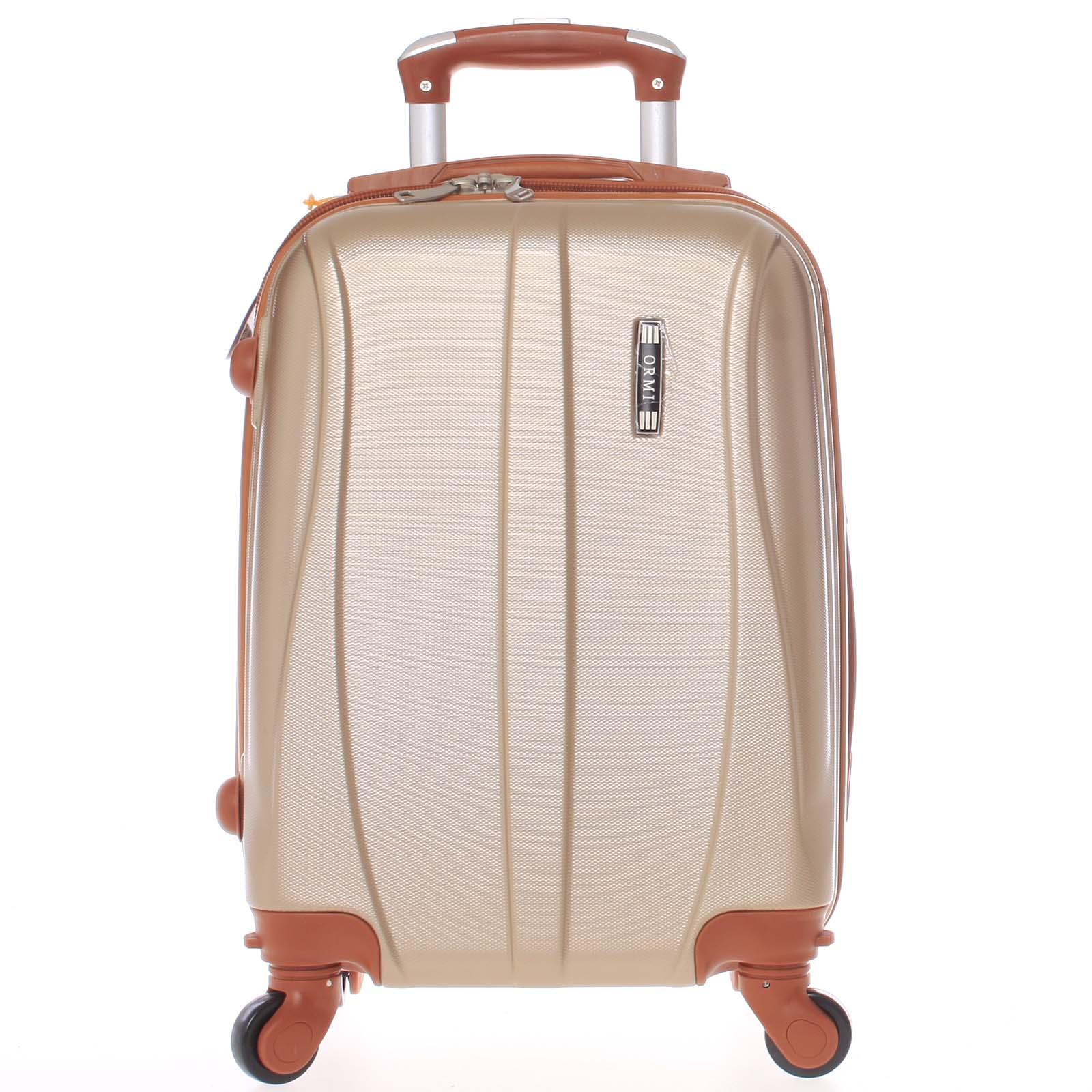 Pevný zlatý palubní cestovní kufr - Ormi Othelo XS