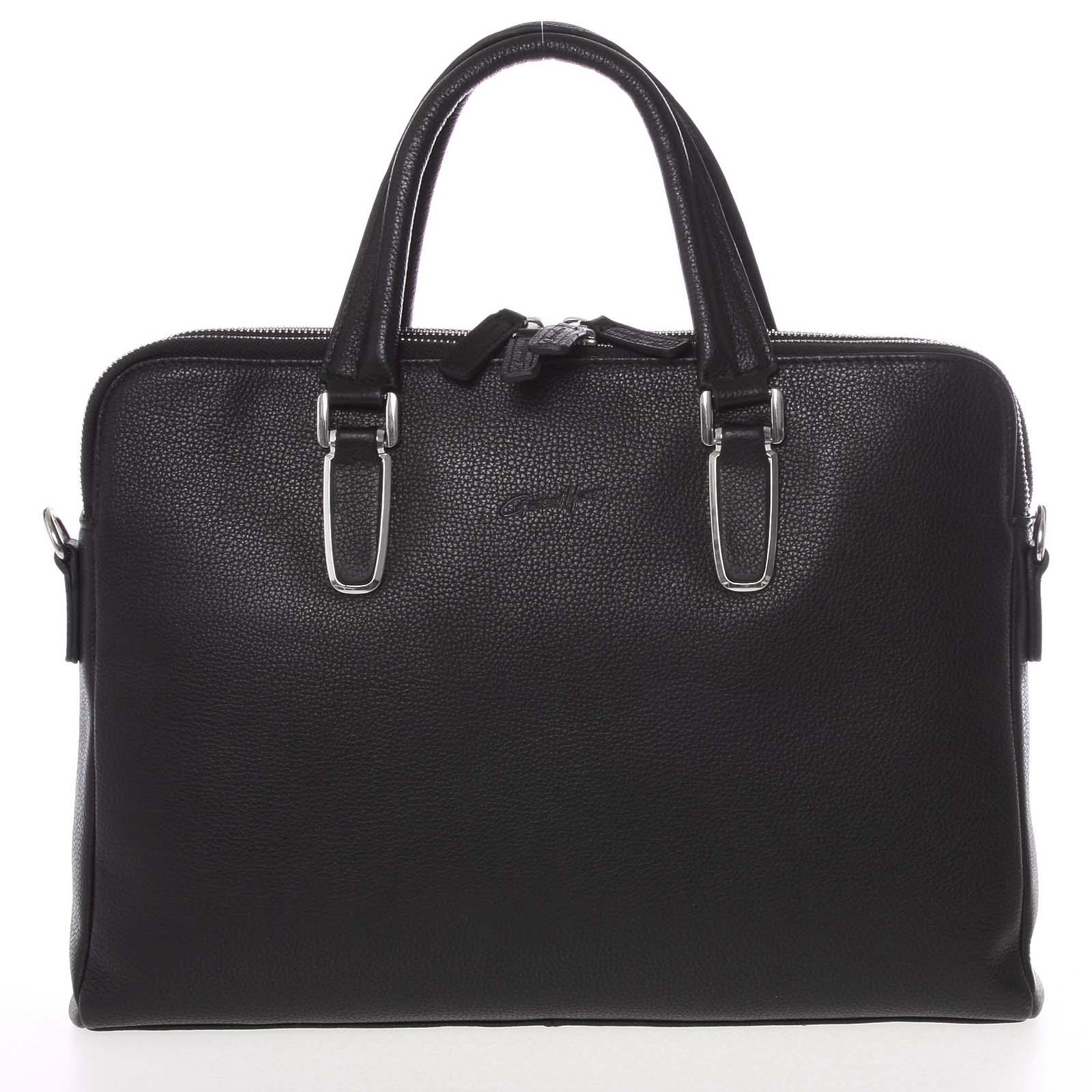 Luxusní kožená taška černá - Gerard Henon Edmond