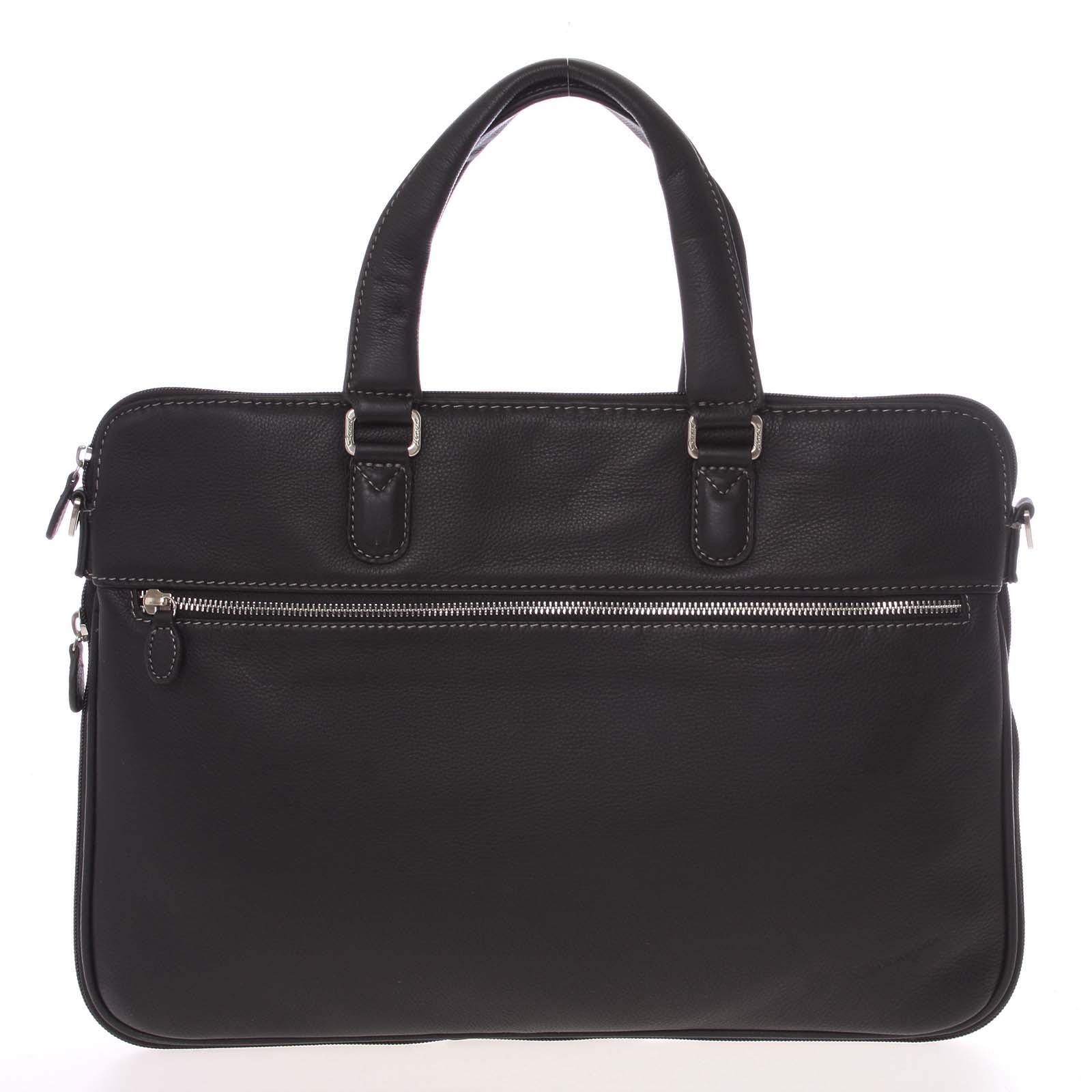 Luxusní kožená taška přes rameno černá - Gerard Henon Garron