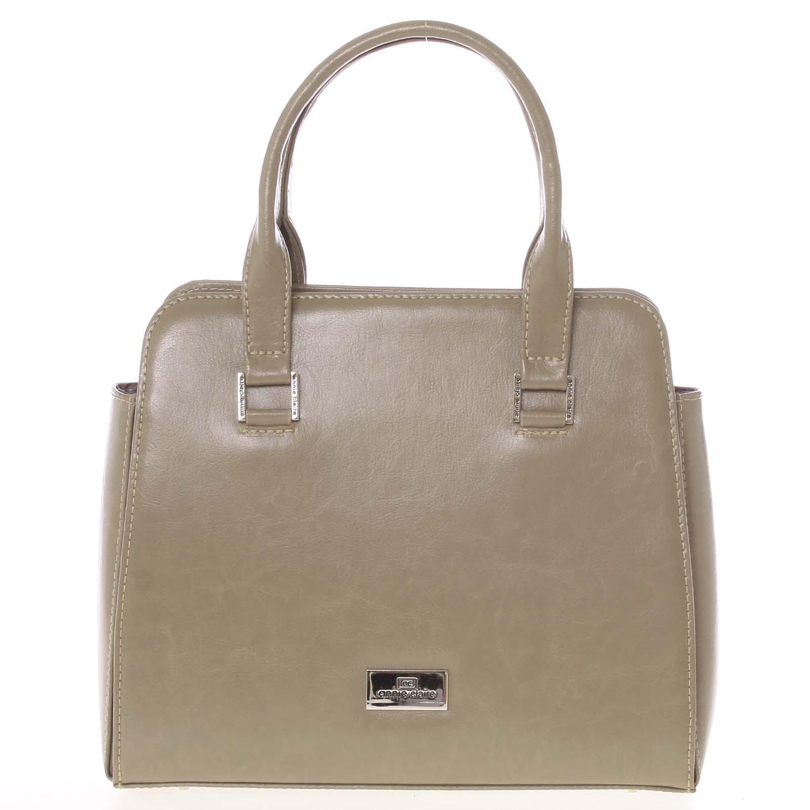 Pevná luxusní camel kožená kabelka - Annie Claire 2212