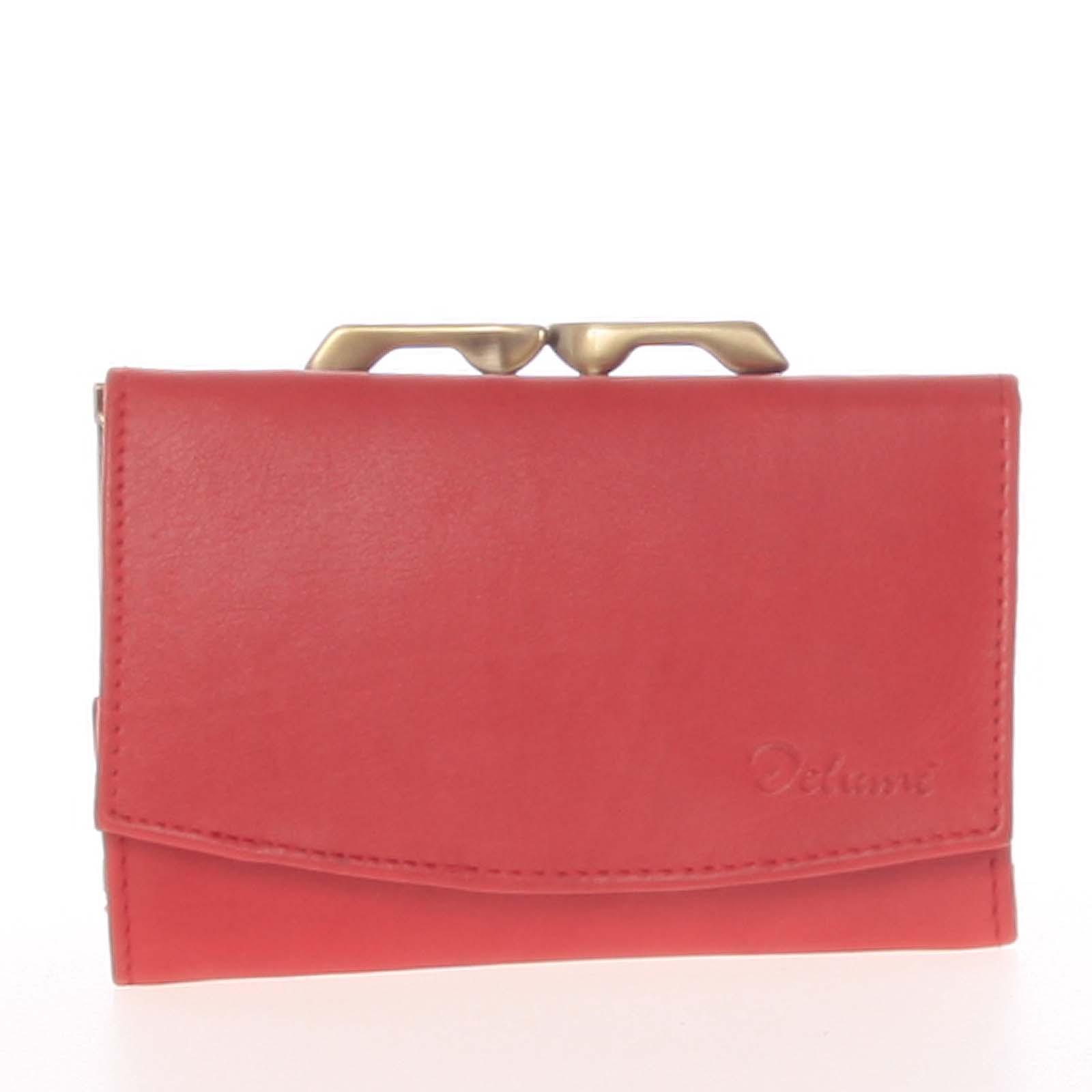 Stylová červená dámská peněženka - Delami 9368