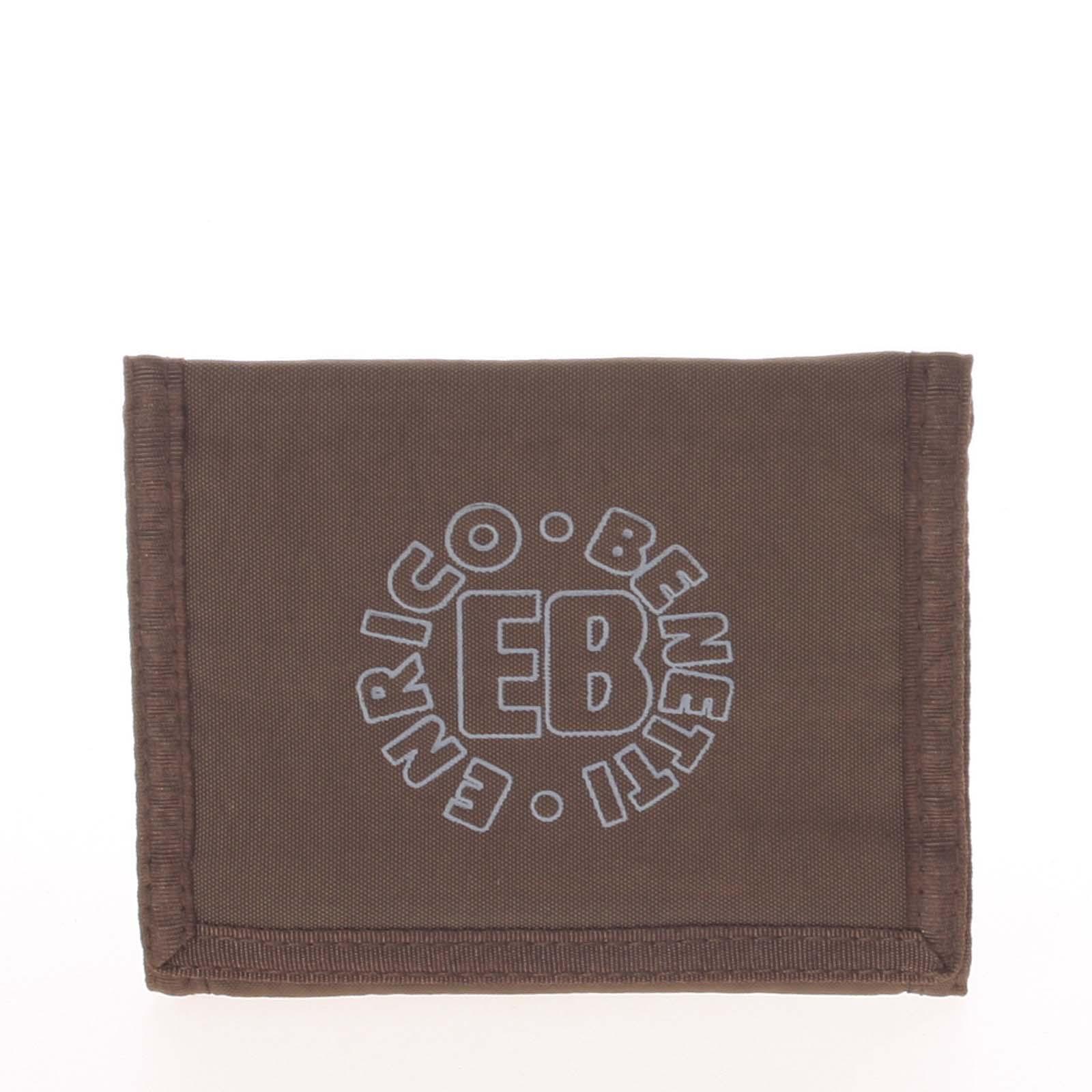 Hnědá látková peněženka Enrico Benetti 54044