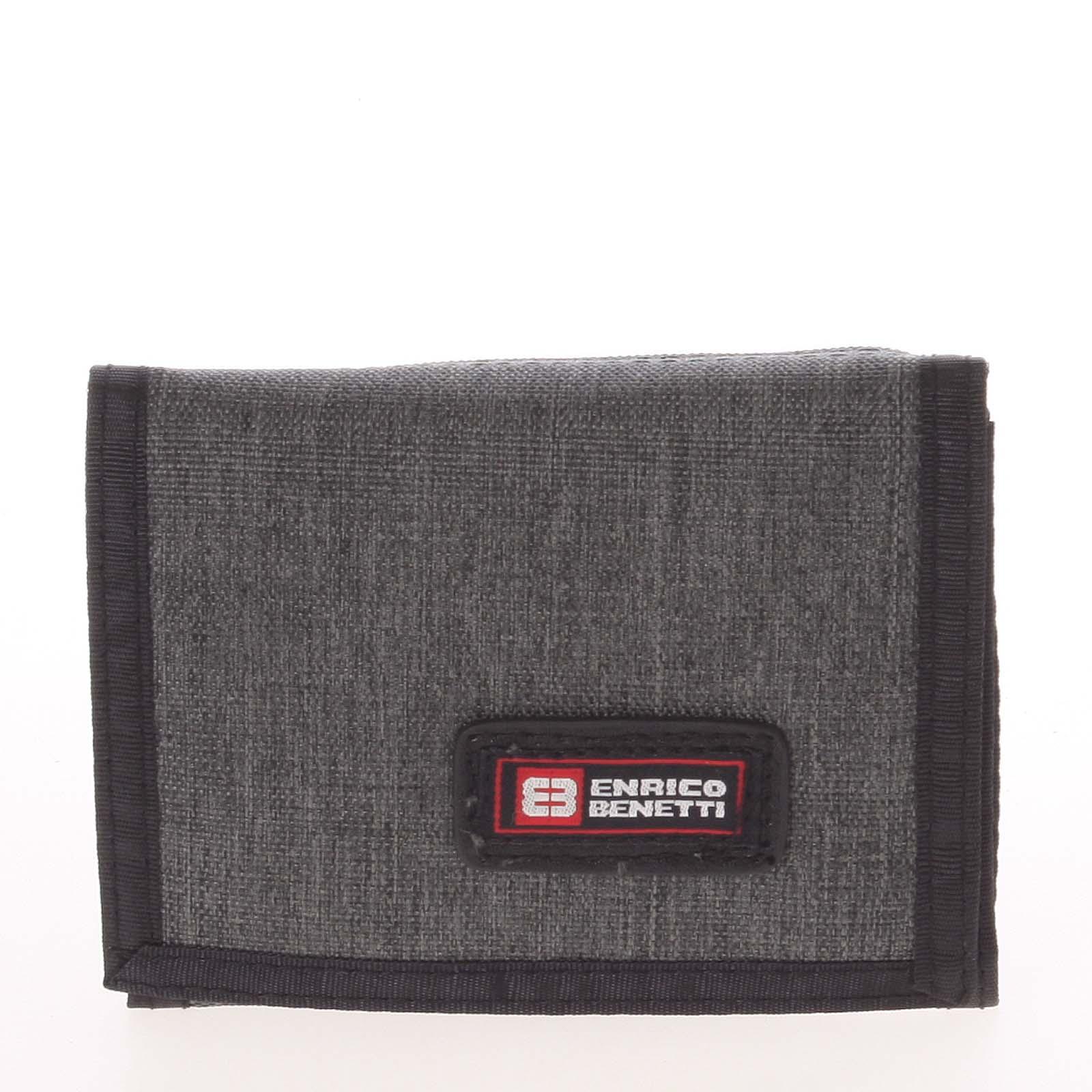 Peněženka látková tmavě šedá - Enrico Benetti 4500