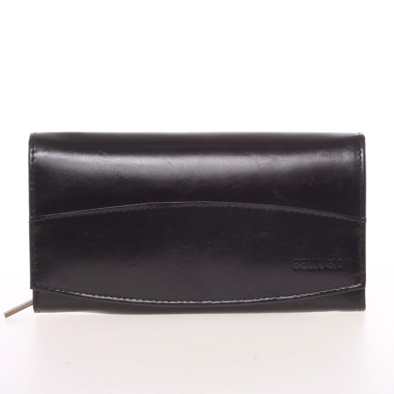 Velká elegantní kožená peněženka černá - Bellugio Olimpia