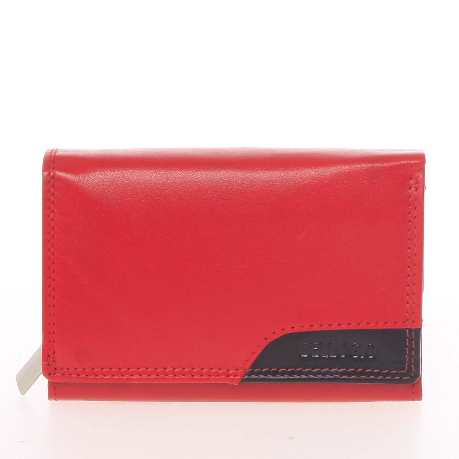 Moderní dámská kožená peněženka červená - Bellugio Oleisia