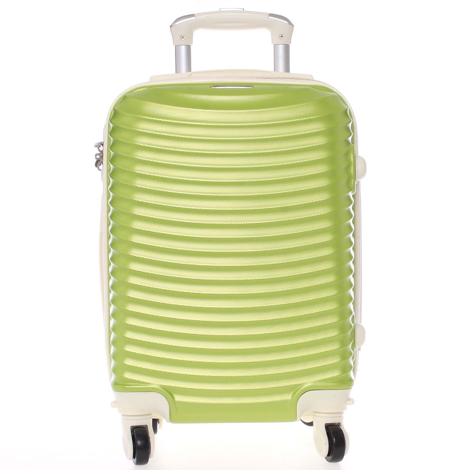 Zelený palubní cestovní kufr pevný - Ormi Jellato XS