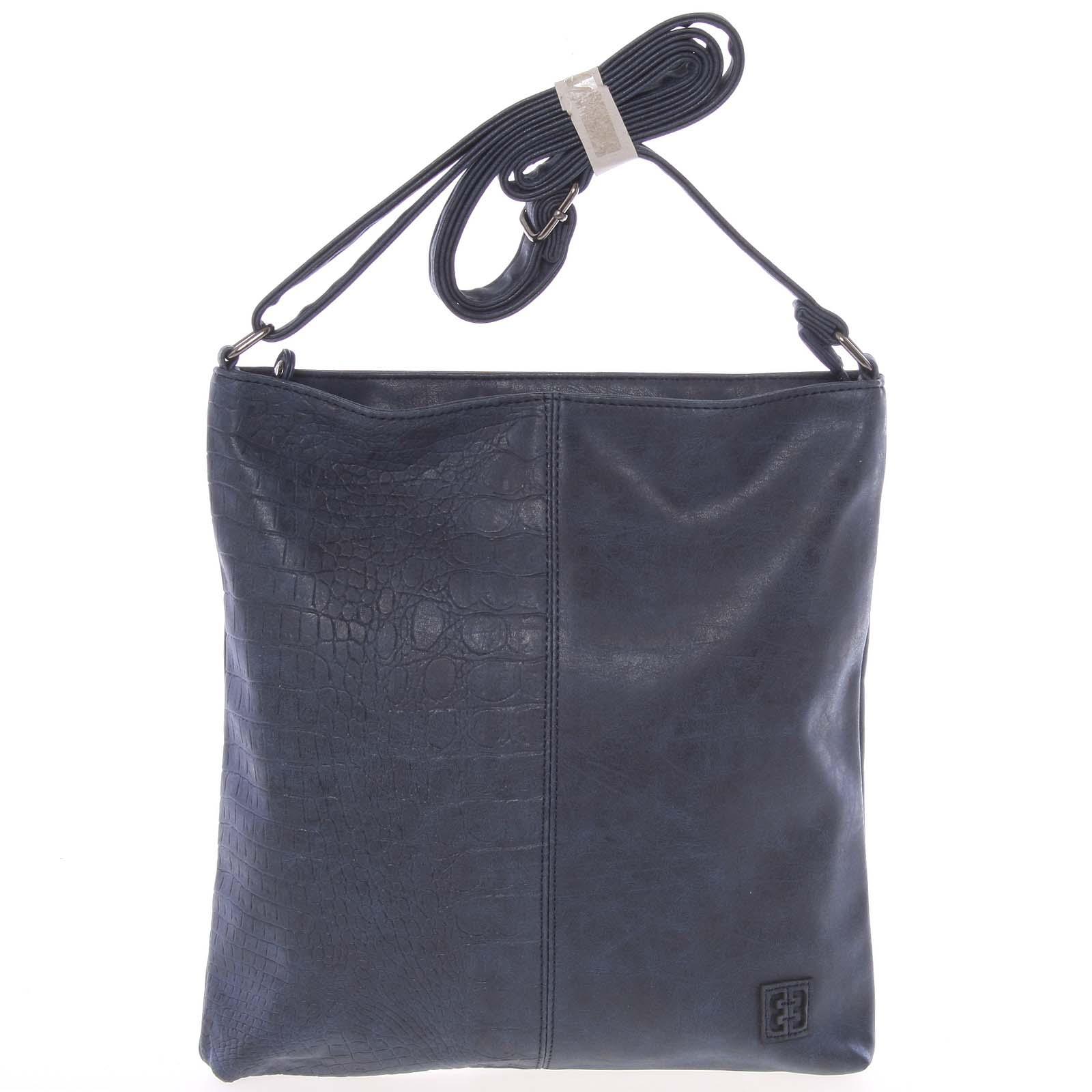 Lehká střední dámská crossbody kabelka tmavě modrá - Enrico Benetti Aria