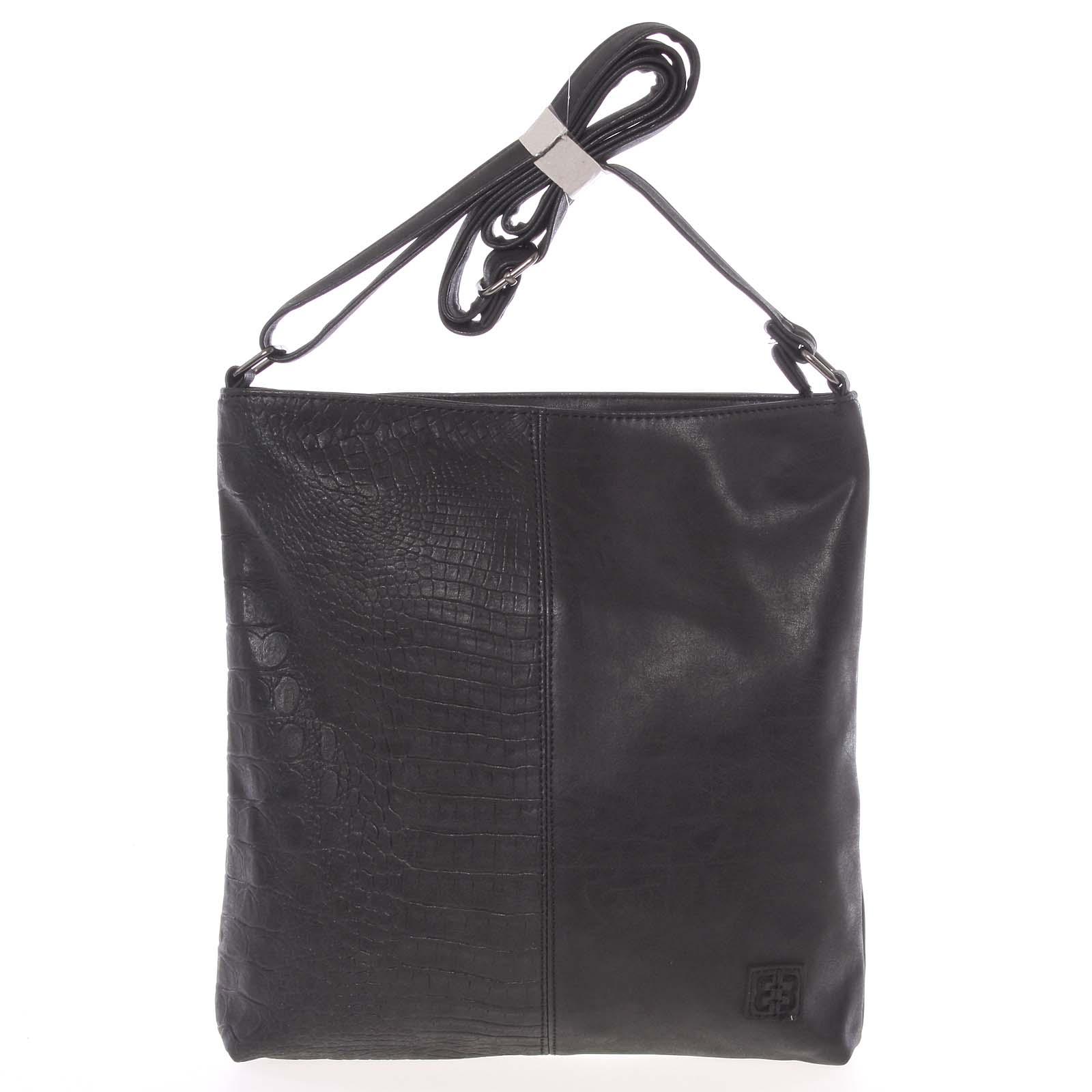 Lehká střední dámská crossbody kabelka černá - Enrico Benetti Aria