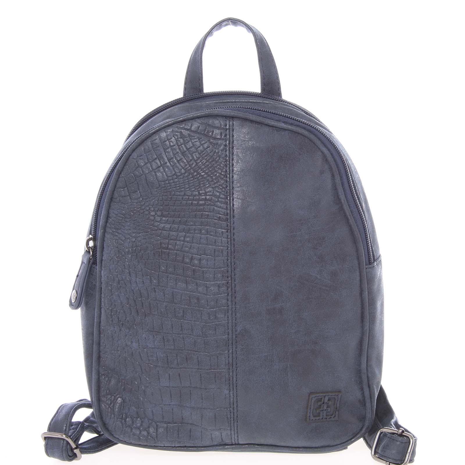 Malý stylový dámský batoh tmavě modrý - Enrico Benetti Abba