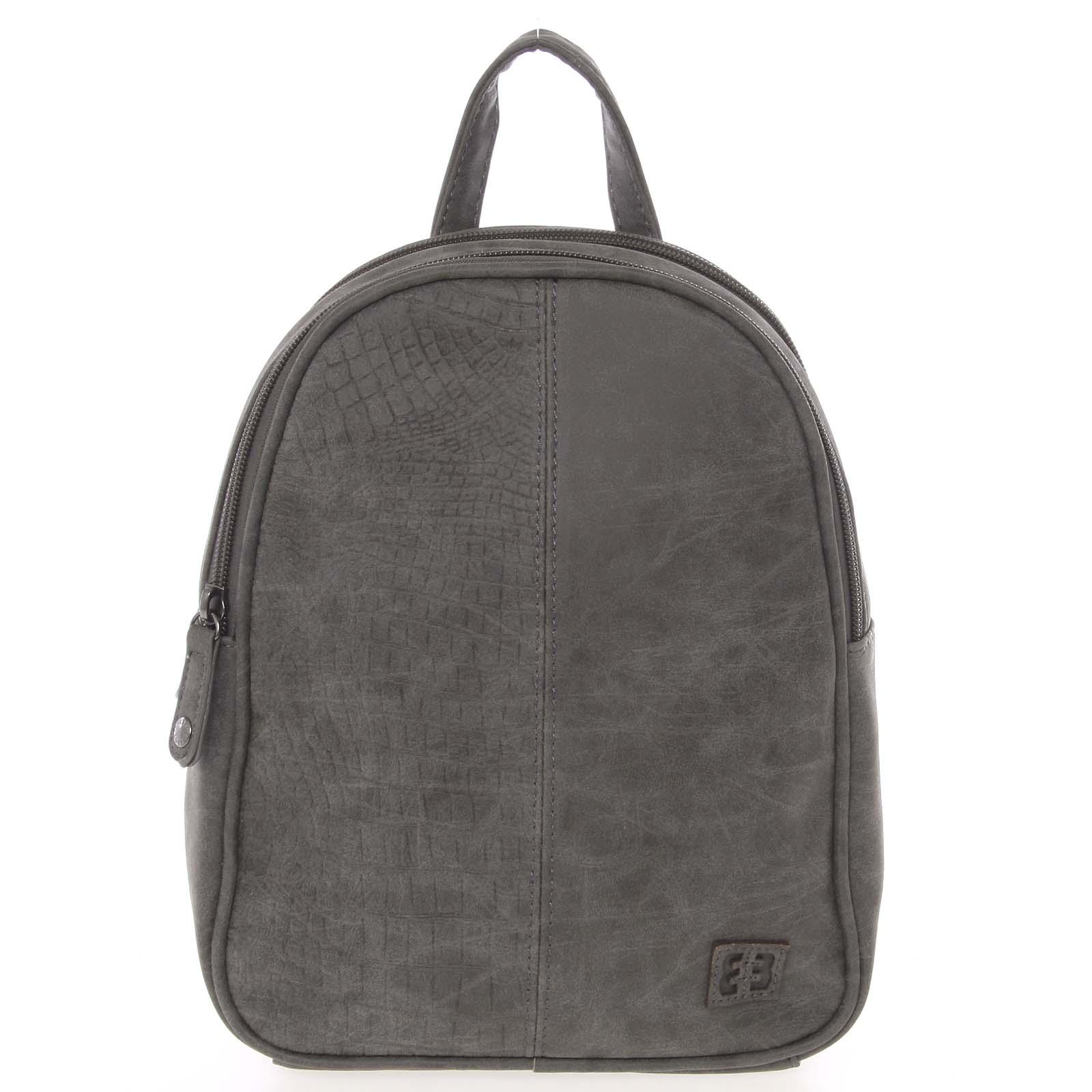 Malý stylový dámský batoh šedý - Enrico Benetti Abba