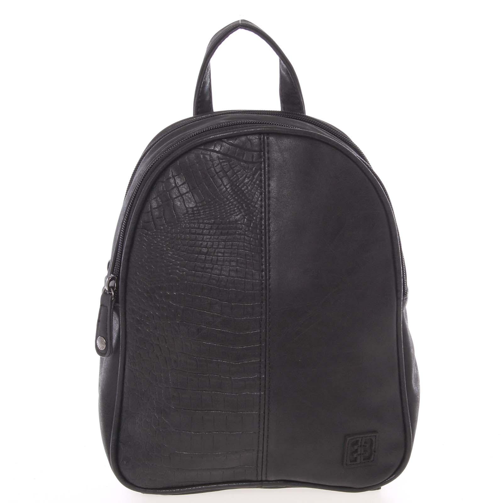 Malý stylový dámský batoh černý - Enrico Benetti Abba