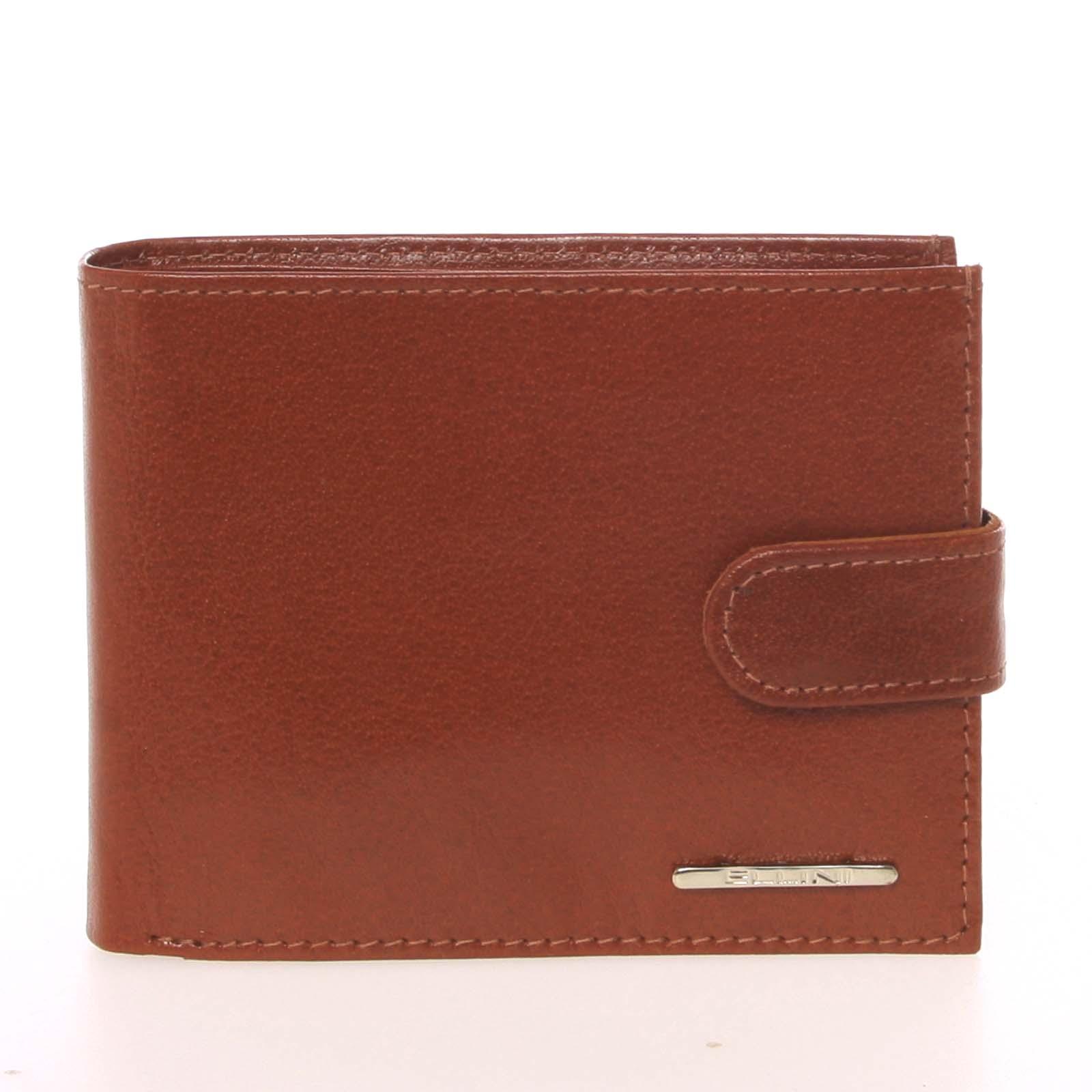 Pánská peněženka světle hnědá - Ellini Lorenzo