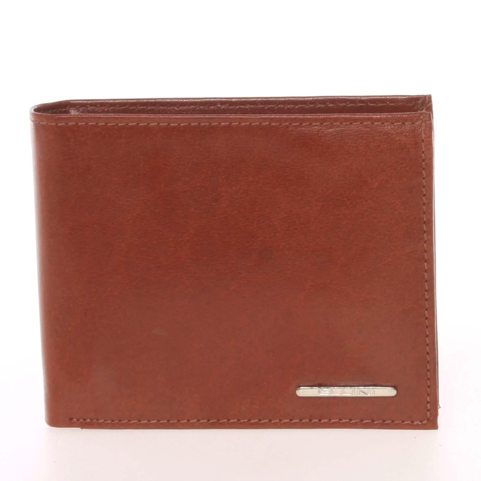 Pánská peněženka světle hnědá - Ellini Valentino