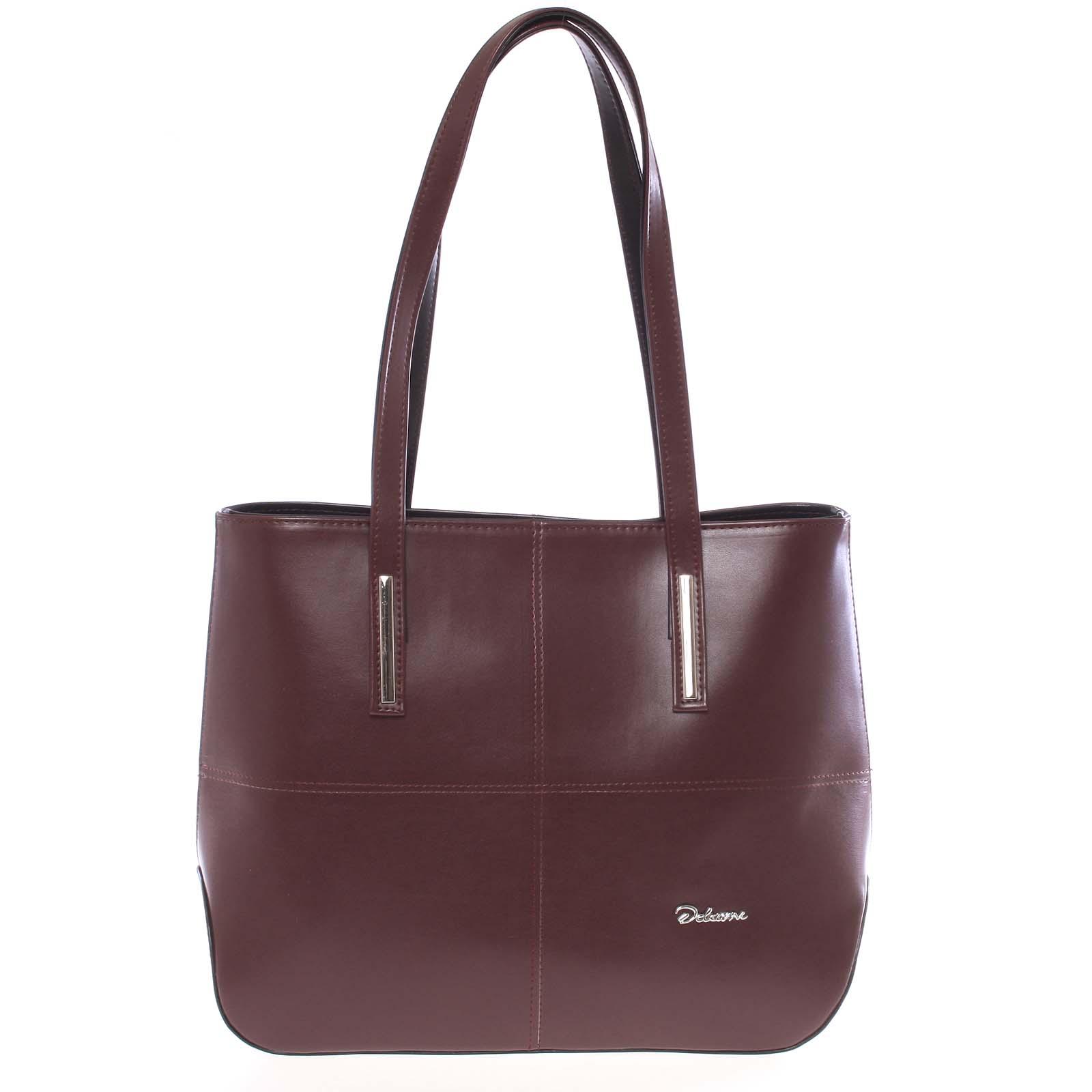 Dámská luxusní kabelka přes rameno vínová - Delami Leonela
