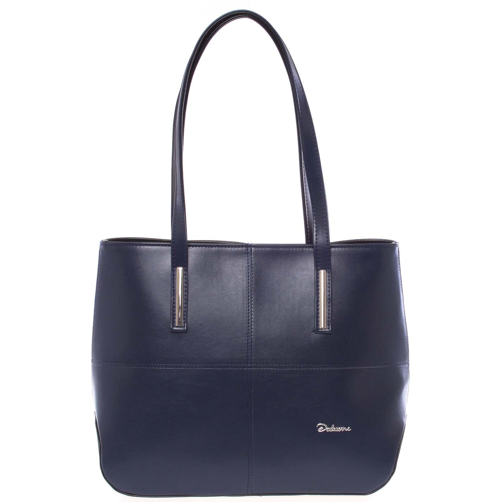 Dámská luxusní kabelka přes rameno tmavě modrá - Delami Leonela