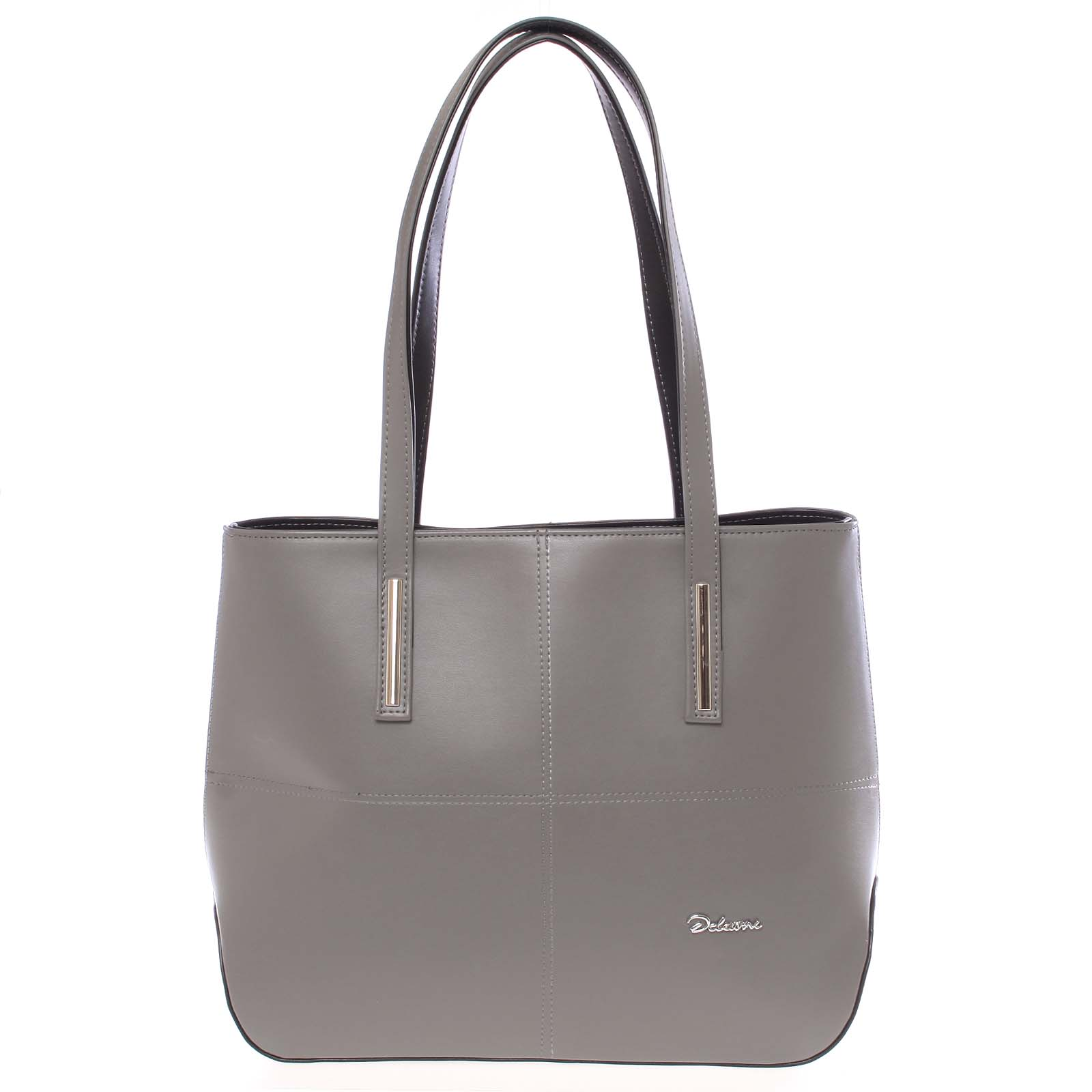 Dámská luxusní kabelka přes rameno tmavě šedá - Delami Leonela