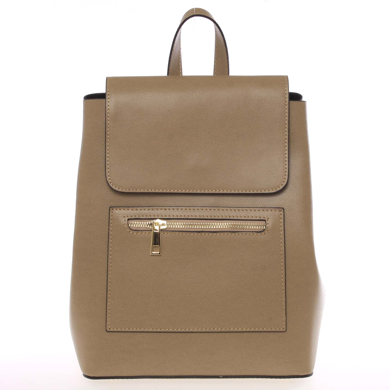 Dámský městský batoh kožený taupe - ItalY Bernadea
