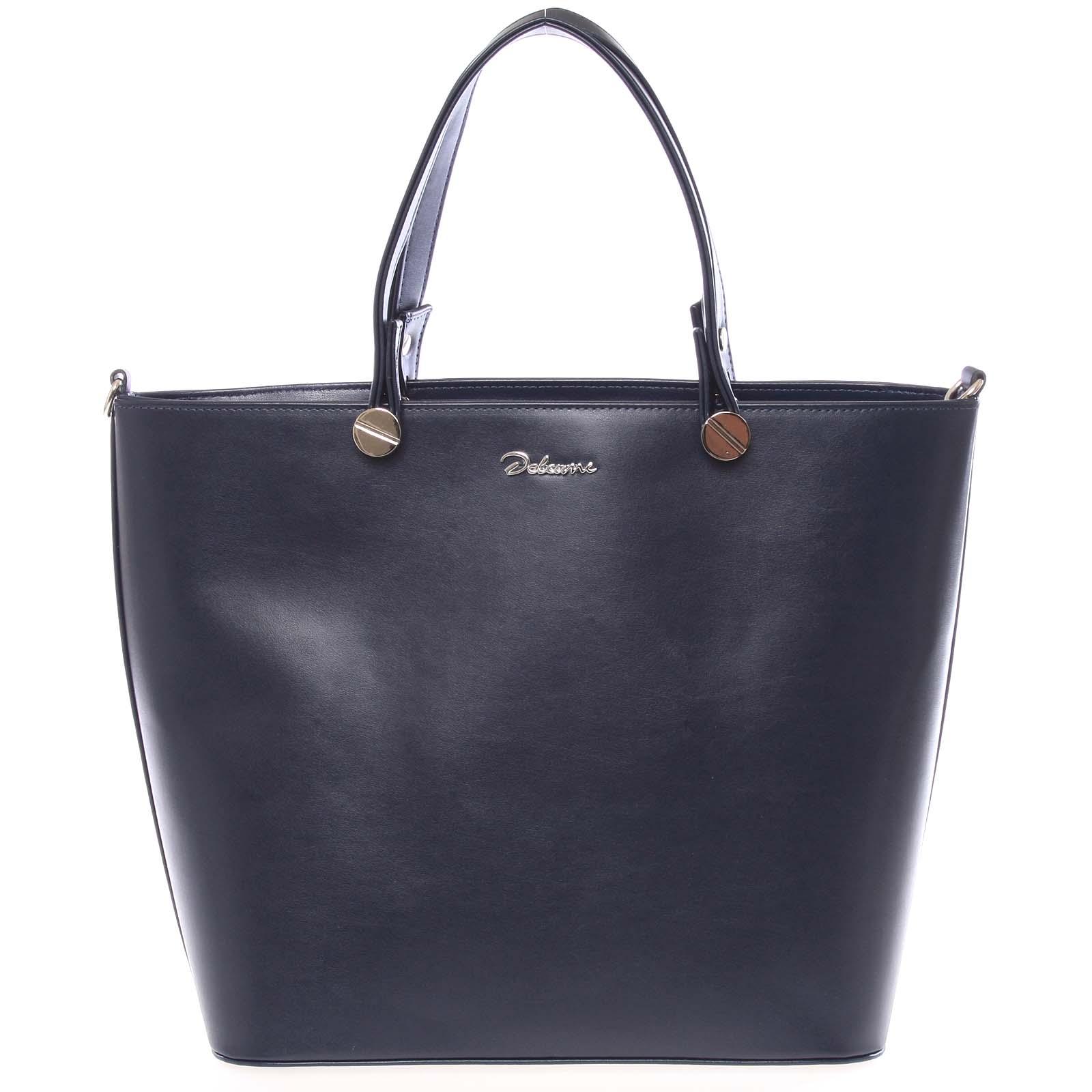 Luxusní tmavě modrá dámská kabelka - Delami Chantal
