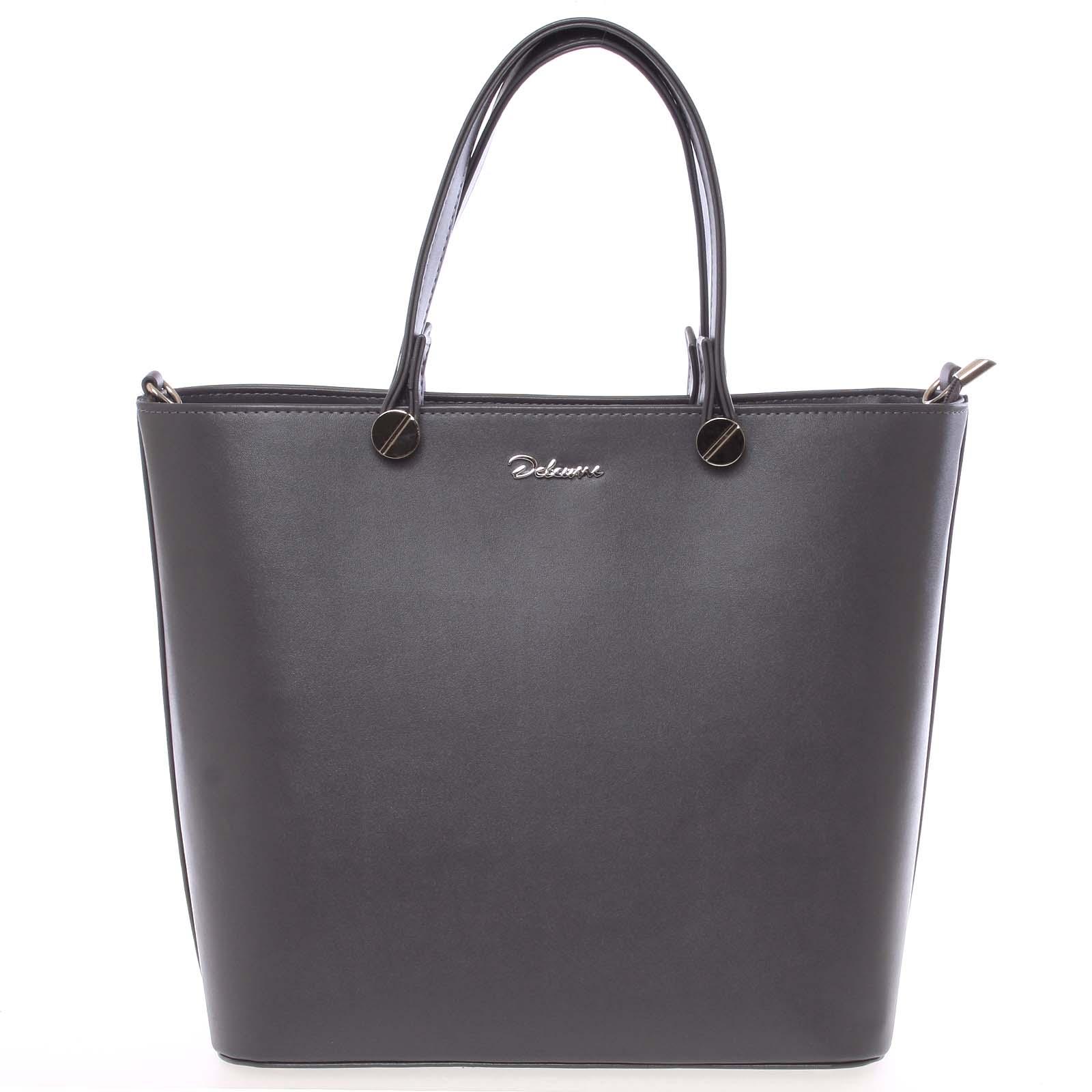 Luxusní tmavě šedá dámská kabelka - Delami Chantal