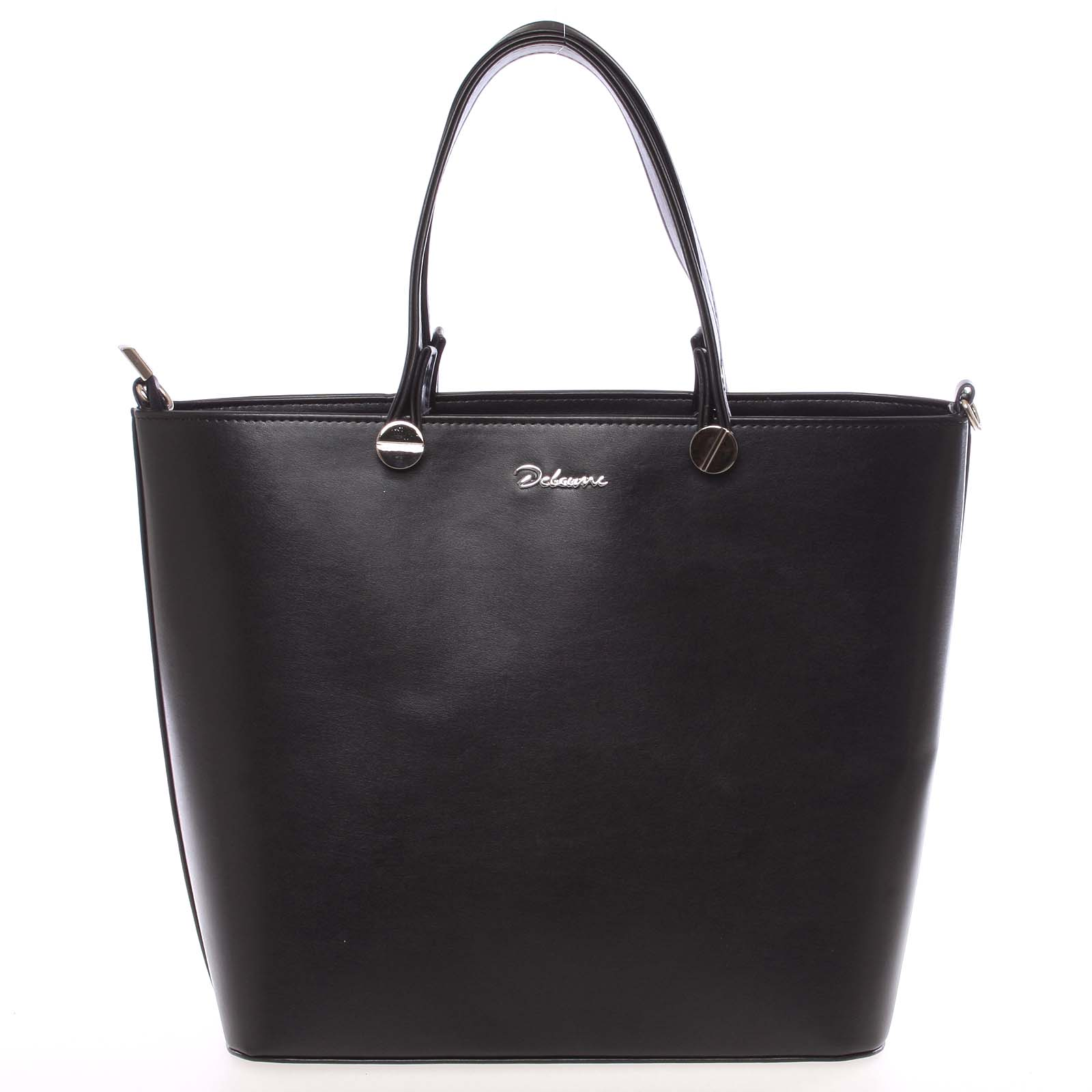Luxusní dámská kabelka černá hladká - Delami Chantal