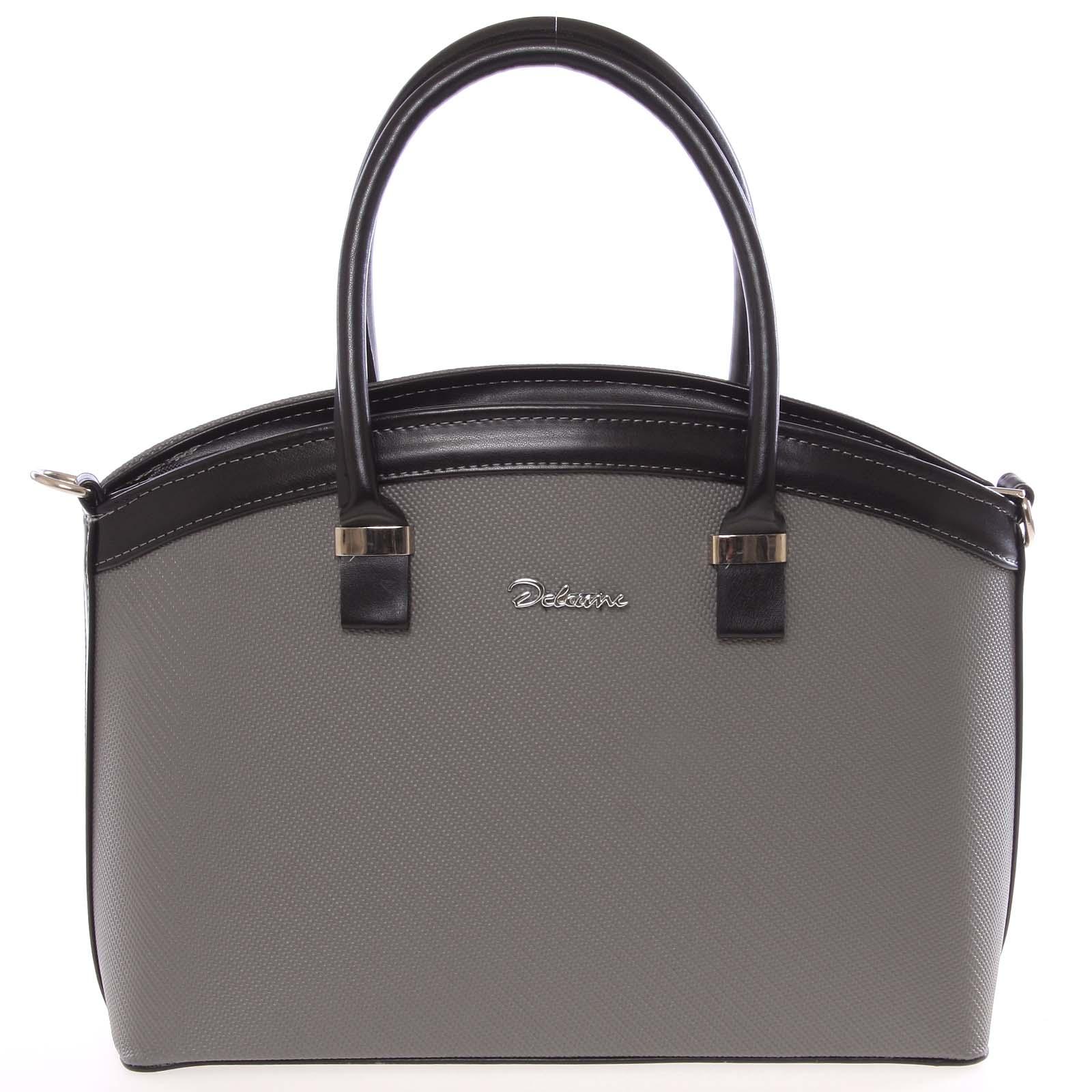 Elegantní šedo černá dámská kabelka do společnosti - Delami Renee