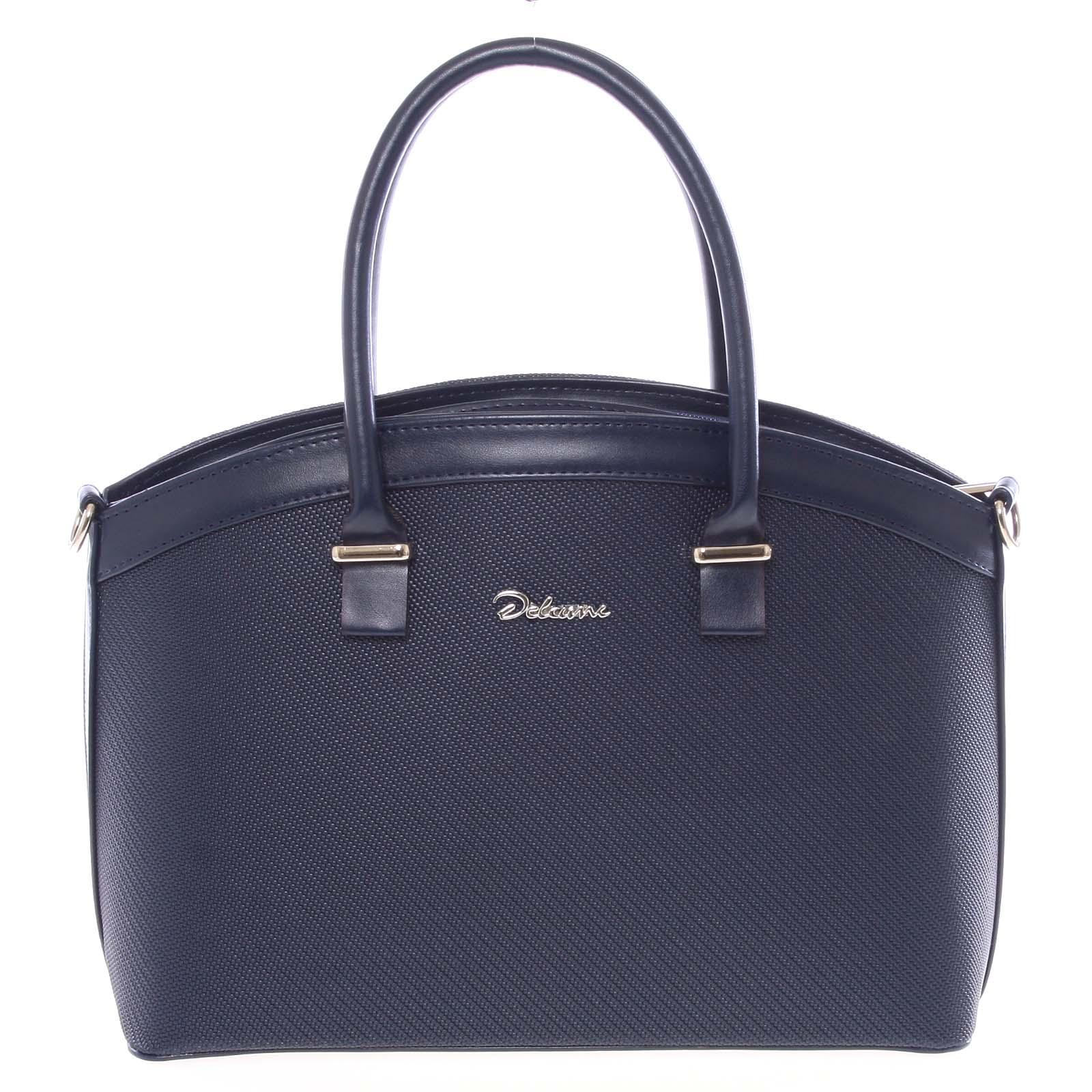 Elegantní tmavě modrá dámská kabelka do společnosti - Delami Renee