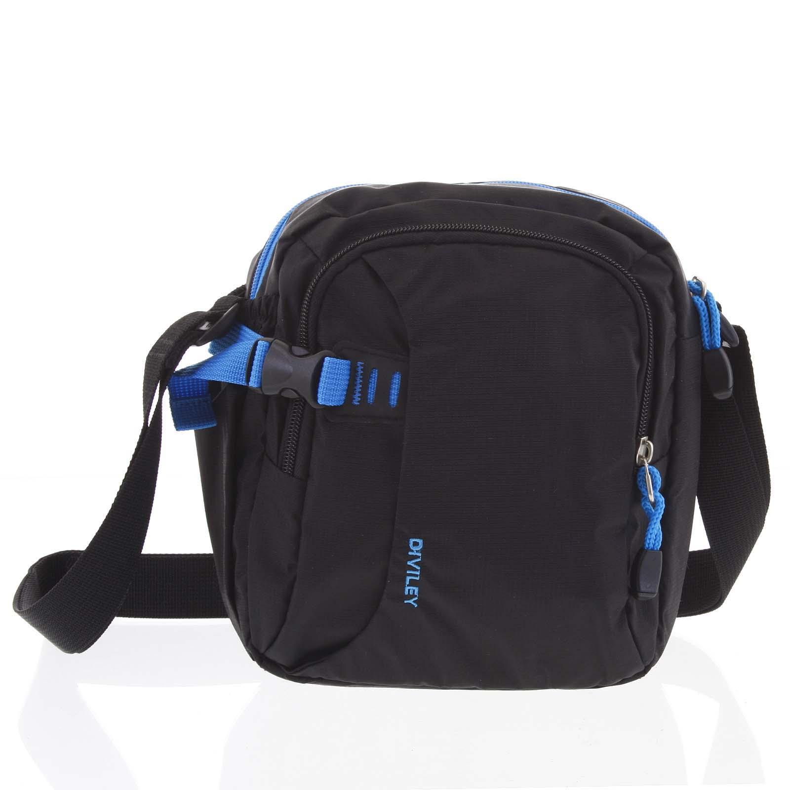 Černo-modrá taška přes rameno Diviley Cecil