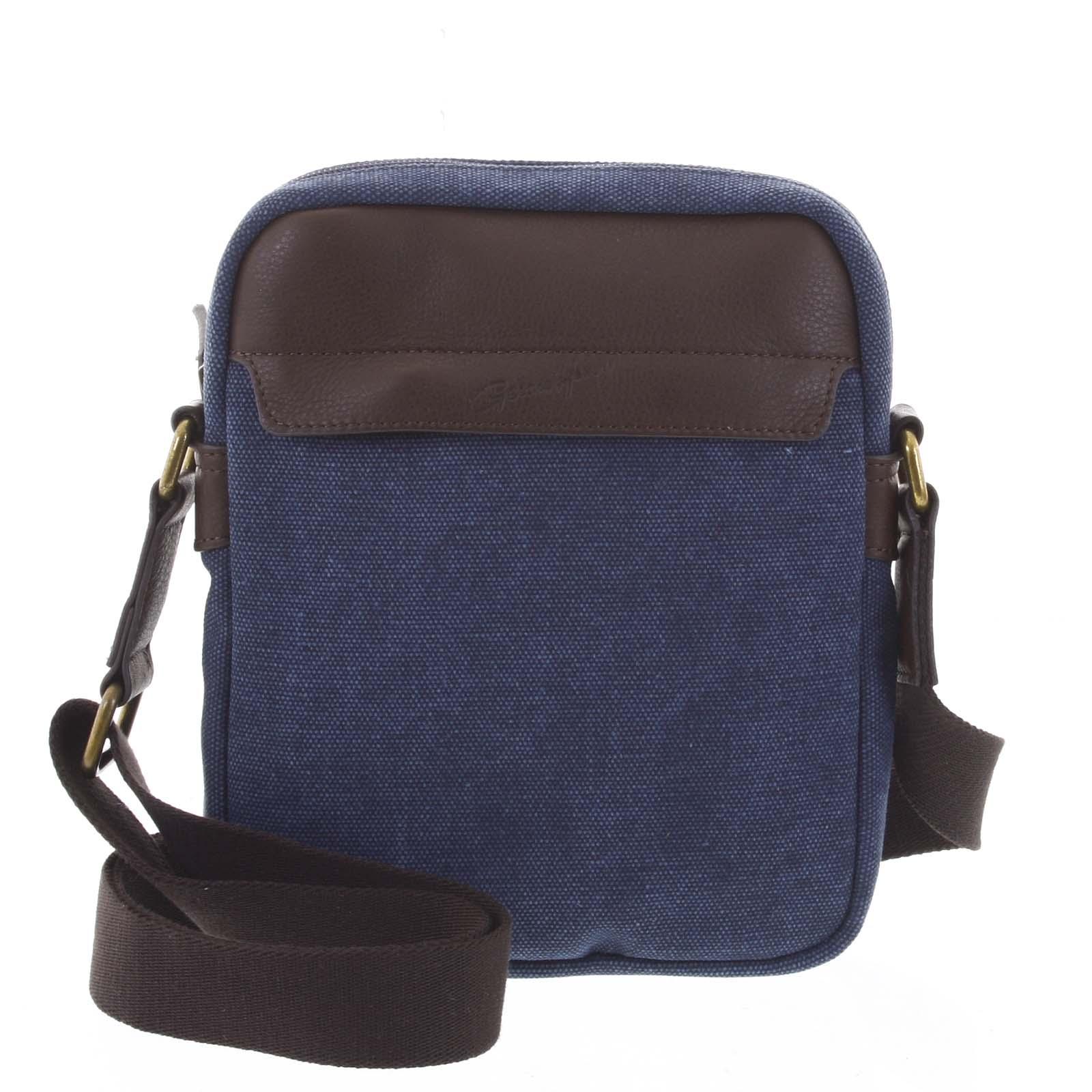 Stylová pánská taška na doklady modrá - Gerard Henon Vidal