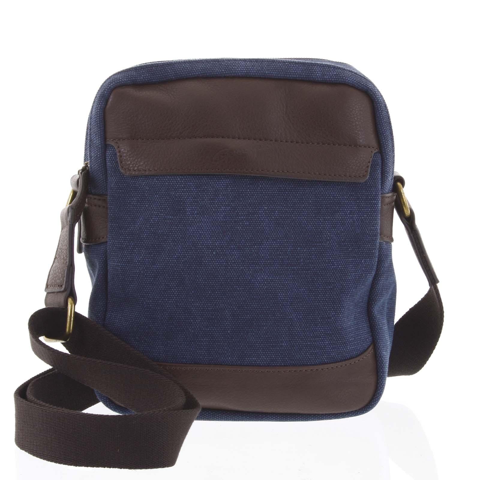 Stylová dvoukomorová pánská taška na doklady modrá - Gerard Henon Percy