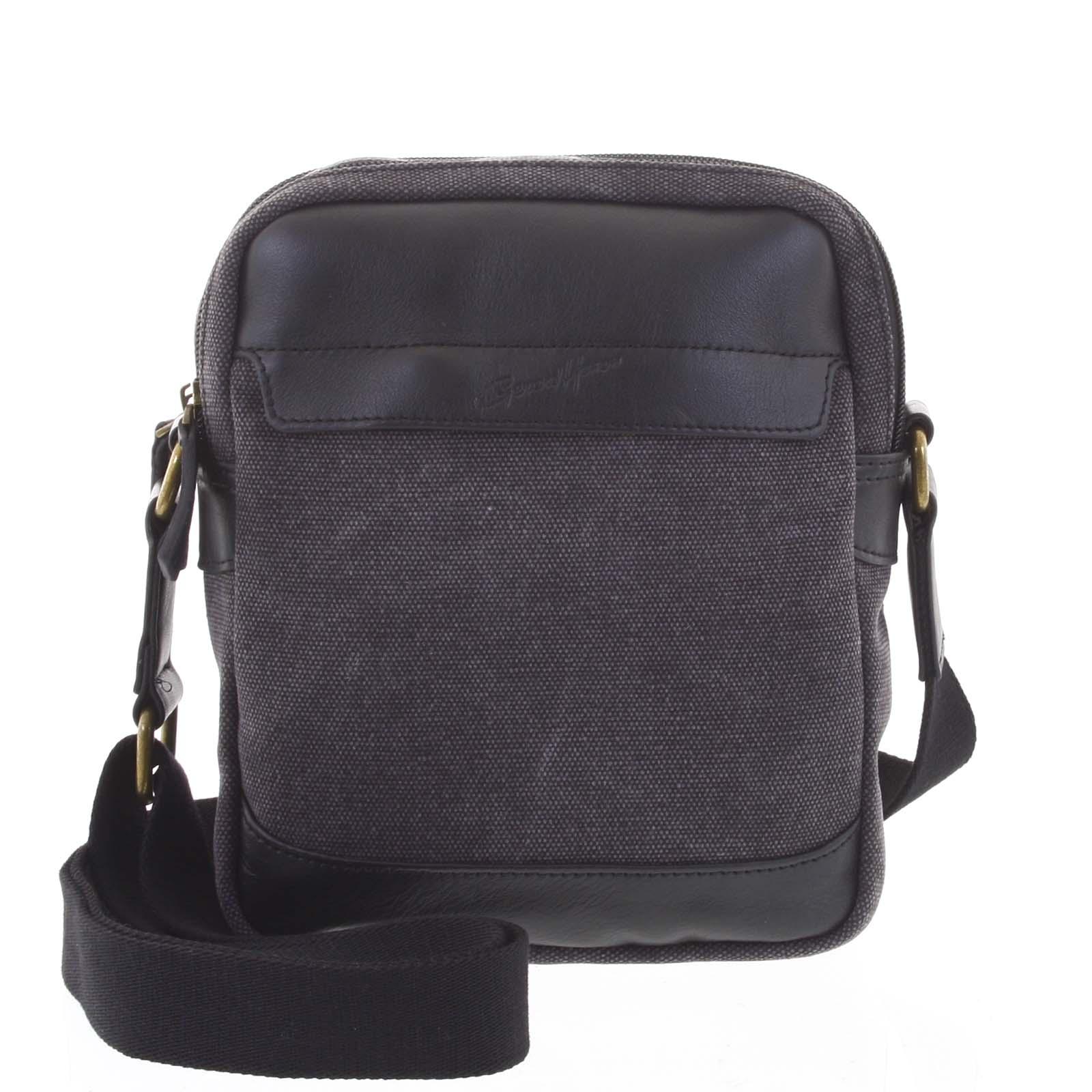 Stylová dvoukomorová pánská taška na doklady černá - Gerard Henon Percy